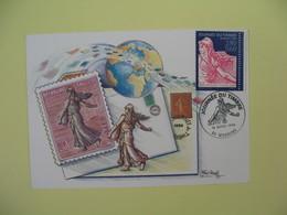 Carte  - Journée Du Timbre  1996  Mourenx - Lettres & Documents