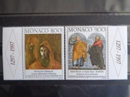 MONACO 1997 Y&T  N° 2127 & 2128 ** - SERIE DES ARTS - Monaco