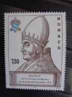 MONACO 1997 Y&T N° 2137 ** - 750e ANNIV. DE LA CREATION PAROISSE DE MONACO PAR LA BULLE PAPALE EN 1247 - Neufs