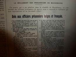 1915 L'ILLUSTRATION :Avis Aux Prisonniers Belges Et Français;Survivants Du LEON-GAMBETTA;Dixmude; Lancement Du LANGUEDOC - Journaux - Quotidiens