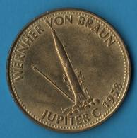 Jeton Shell WERNHER VON BRAUN JUPITER C 1958 - Professionals / Firms