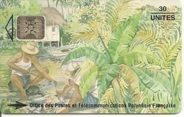CARTE-PUCE-POLYNESIE-PF25 -SC5-30U-08/94-Les PECHEURS-N°Rouges Maigres C49100916-UTILISE-TBE- - Polynésie Française