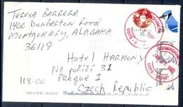 K2- USA United States Postal History Cover. Post To Czech Republic. Birds. - Postal History