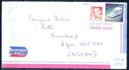 K3- USA United States Postal History Cover. Post To U.K. England. Transport. Car. - Postal History