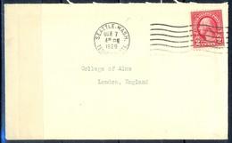 K4- USA United States Postal History Cover. Post To U.K. England. - Postal History
