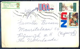 K6- USA United States Postal History Cover. Post To Netherlands. Christmas. UNO. United Nation. - Postal History