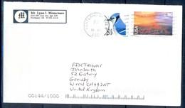 K9- USA United States Postal History Cover. Post To U.K. England. Birds. - Postal History