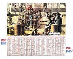 Calendrier Bicentenaire De La Révolution Française 1789 1989 - Calendriers