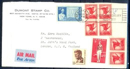 K10- USA United States Postal History Cover. Post To U.K. England. - Postal History