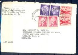 K11- USA United States Postal History Cover. Post To U.K. England. Liberty. - Postal History