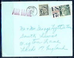 K12- USA United States Postal History Cover. Post To U.K. England. - Postal History