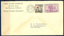 K13- USA United States Postal History Cover. Post To Luxembourg. Red Cross. Tree. - Postal History