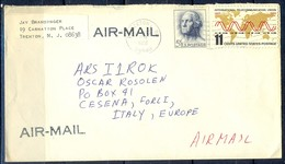 K14- USA United States Postal History Cover. Post To Italy. Tele Come. - Postal History