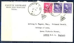 K21- USA United States Postal History Cover. Post To U.K. England. - Postal History