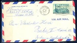 K23- USA United States Postal History Cover. Post To Czechoslovakia. Liberty. - Postal History