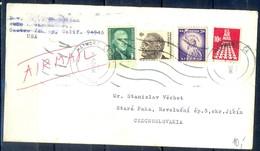 K25- USA United States Postal History Cover. Post To Czechoslovakia. Liberty. - Postal History