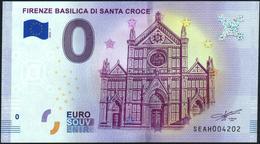 Zero - BILLET EURO O Souvenir - FIRENZE BASILICA DI SANTA CROCE 2018-1set UNC {Italy} - EURO