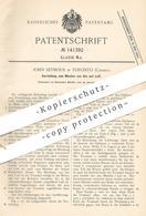 Original Patent - John Seymour , Toronto , Canada , Kanada | 1902 , Mischen Von Gas Und Luft | Heizung , Kochherd , Herd - Historische Dokumente