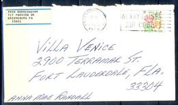 K30- USA United States Postal History Cover. Flowers. Rose. - Postal History