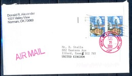 K31- USA United States Postal History Cover. Post To U.K. England. Pilot. - Postal History