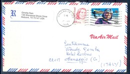 K32- USA United States Postal History Cover. Post To Italy. Pilot. - Postal History