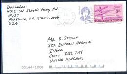 K33- USA United States Postal History Cover. Post To U.K. England. - Postal History