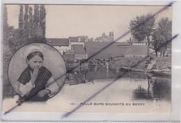 Région: Mille Bons Souhaits Du Berry ; Fillette En Médaillon Envoyant Un Baiser. Ville  Possible Sully Sur Loire (45) - France