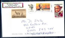 K34- USA United States Postal History Cover. Post To U.K. England.Animals. Liberty. - Postal History