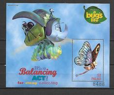 Disney Palau 1998 A Bug's Life MS #1 MNH - Disney