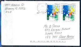 K35- USA United States Postal History Cover. Post To U.K. England.Child Art. - Postal History