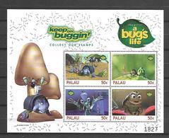 Disney Palau 1998 A Bug's Life Sheetlet #4 MNH - Disney