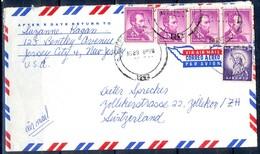 K37- USA United States Postal History Cover. Post To Switzerland. Liberty. - Postal History