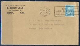 K38- USA United States Postal History Cover. Post To Switzerland's. - Postal History
