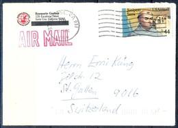 K39- USA United States Postal History Cover. Post To Switzerland's. - Postal History