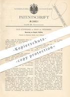 Original Patent - Max Schneider , Doos / Nürnberg , 1884 , Regulier- Füllofen | Ofen , Öfen , Ofenbauer , Heizung !! - Historische Dokumente