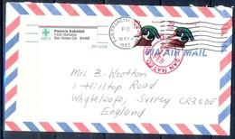 K43- USA United States Postal History Cover. Post To U.K. England. Birds. - Postal History