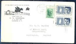 K46- USA United States Postal History Cover. Post To U.K. England. - Postal History