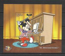 Disney St Vincent Gr 1998 Hi Mousketeers MS MNH - Disney