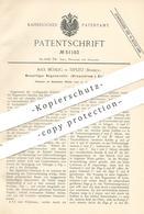 Original Patent - Max Mühlig , Teplitz / Böhmen , 1889 , Regenerativ - Kreuzstrom - Gasofen | Gas - Ofen | Öfen , Gase ! - Historische Dokumente