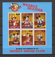 Disney St Vincent Gr 1998 Mickey - Weekly Hi-lites Sheetlet MNH - Disney