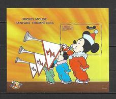 Disney St Vincent Gr 1998 Mickey Mouse Fanfare Trumpeters MS MNH - Disney