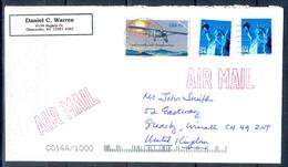 K50- USA United States Postal History Cover. Post To U.K. England. Liberty. - Postal History