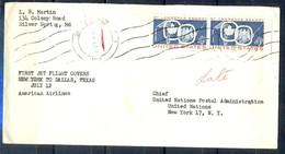 K51- USA United States Postal History Cover. Birds. Flag. - Postal History