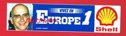 1 Autocollant EUROPE 1 Albert SIMON Pub Shell - Autocollants