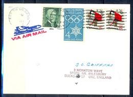 K54- USA United States Postal History Cover. Post To U.K. England. Christmas. - Postal History