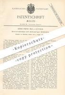 Original Patent - Henri Pieper Fils , Lüttich , 1889 , Querstromlampe Mit Glühkohle | Strom , Lampe , Elektriker !!! - Historische Dokumente