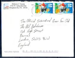 K59- USA United States Postal History Cover. Post To U.K. England. Cartoon. - Postal History