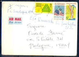 K60- USA United States Postal History Cover. Post To Italy. Liberty. Flag. - Postal History