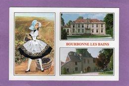 52 BOURBONNE LES BAINS Multivues Carte Brodée - Bourbonne Les Bains