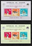 #C98# ECUADOR MICHEL BL 33/34 MNH** SPACE. - Equateur